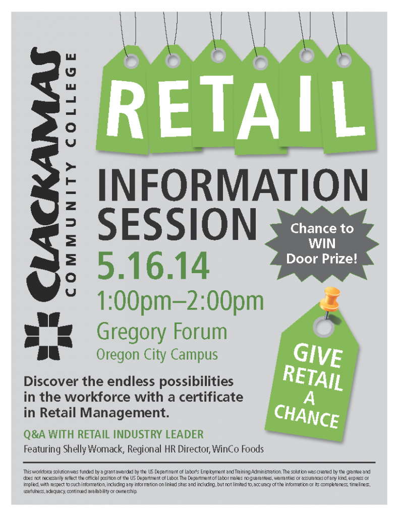about Retail Info Session Flyer